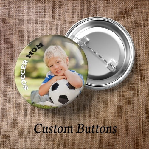 Custom Buttons With Pin Back