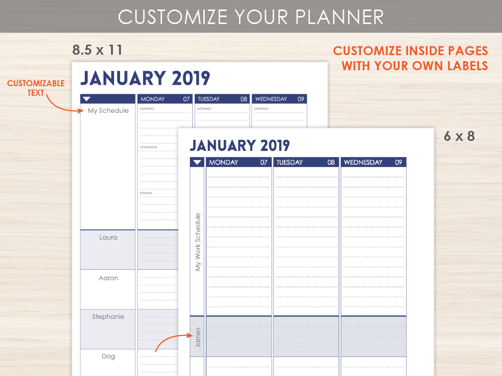 Custom Mom Planner Layout Option
