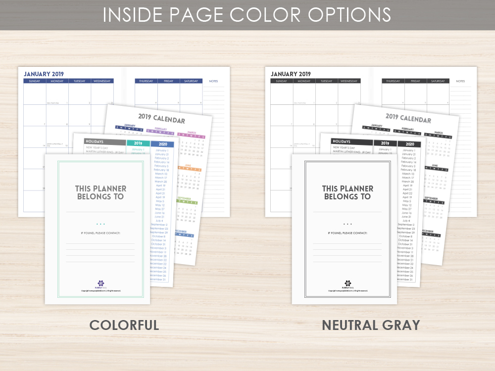 Inside Page Color Options