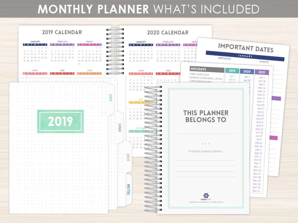 Custom Monthly Planner Layout Options