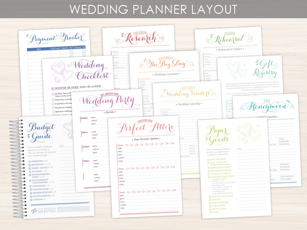 Custom Gay Wedding Planner Layout Option