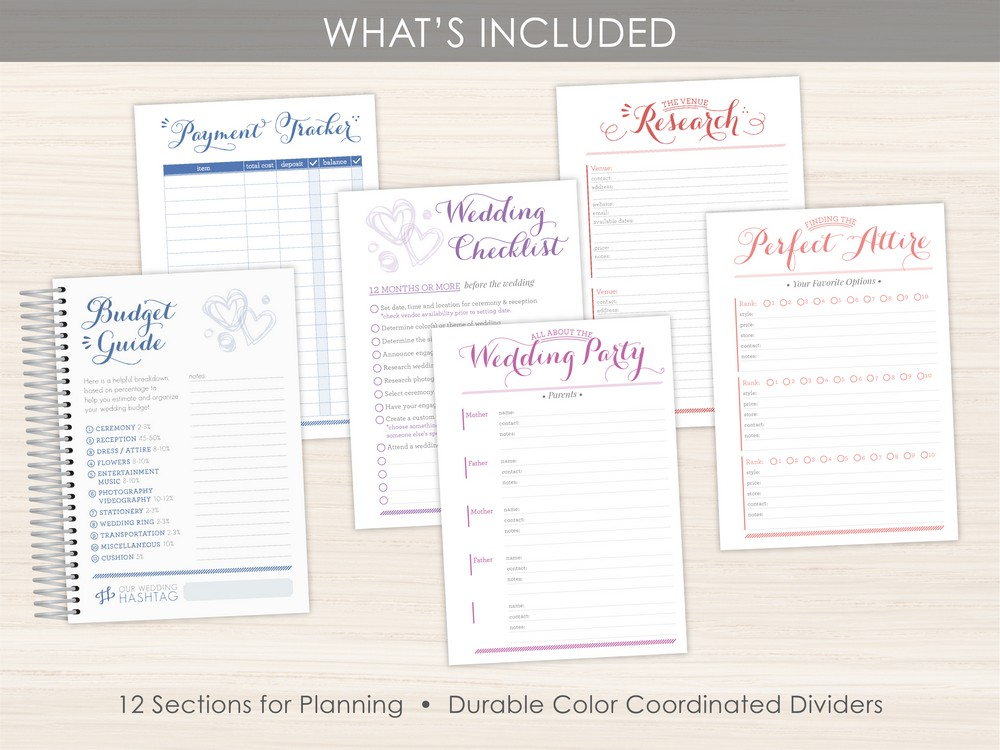 Custom Wedding Planner Layout Option