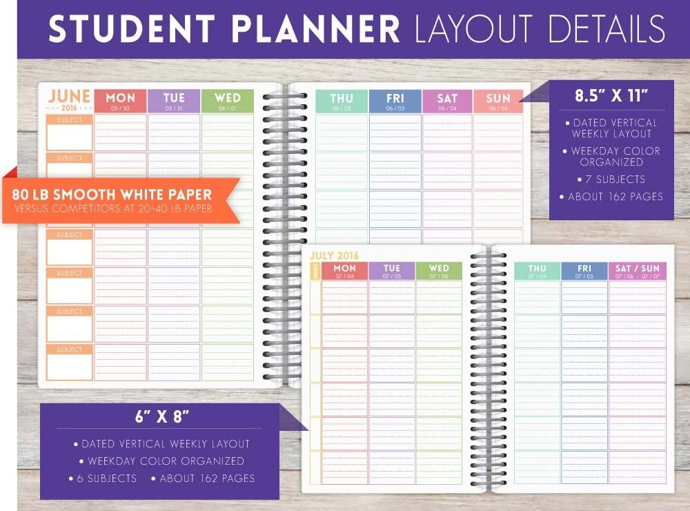 Cute wizard divination student planner student planners for Custom photo planner