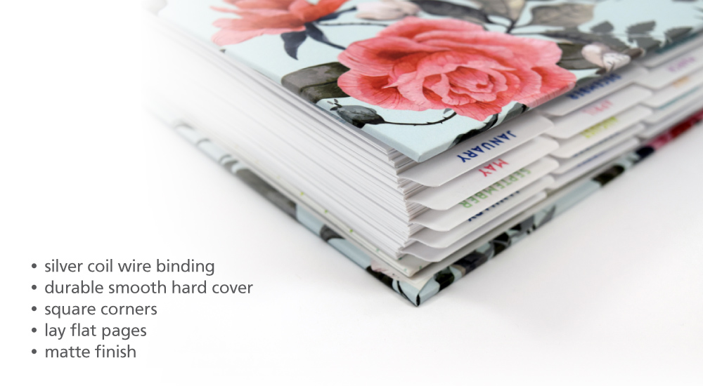 About Hardcover Wire Bound Planner