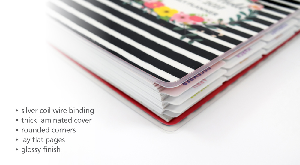 About Laminate Softcover Wire Bound Planner