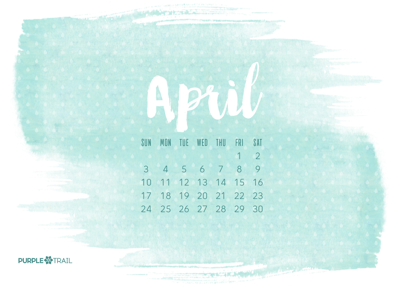 Printable And Other DIY Project Downloads PurpleTrail April Calendar 2017