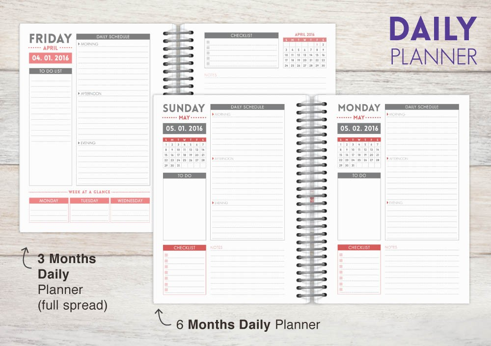 Striped school colors custom student planner 2017 daily for Custom photo planner