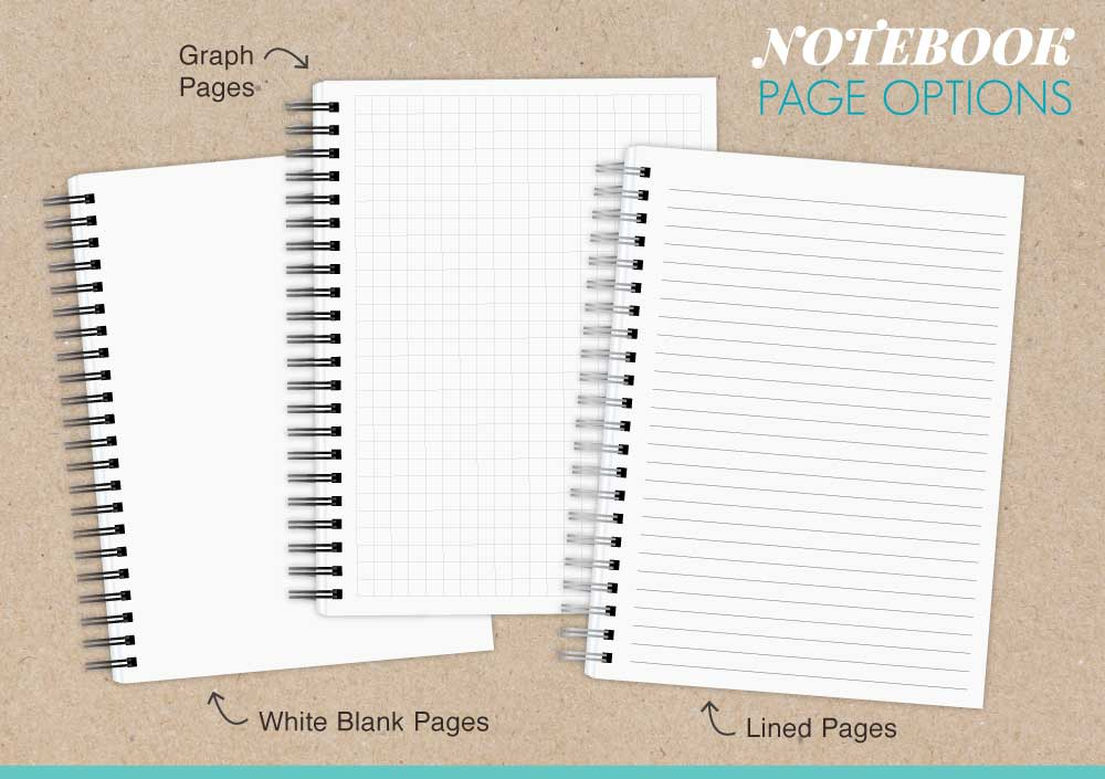 85x11 notebook design your own personalized notebooks