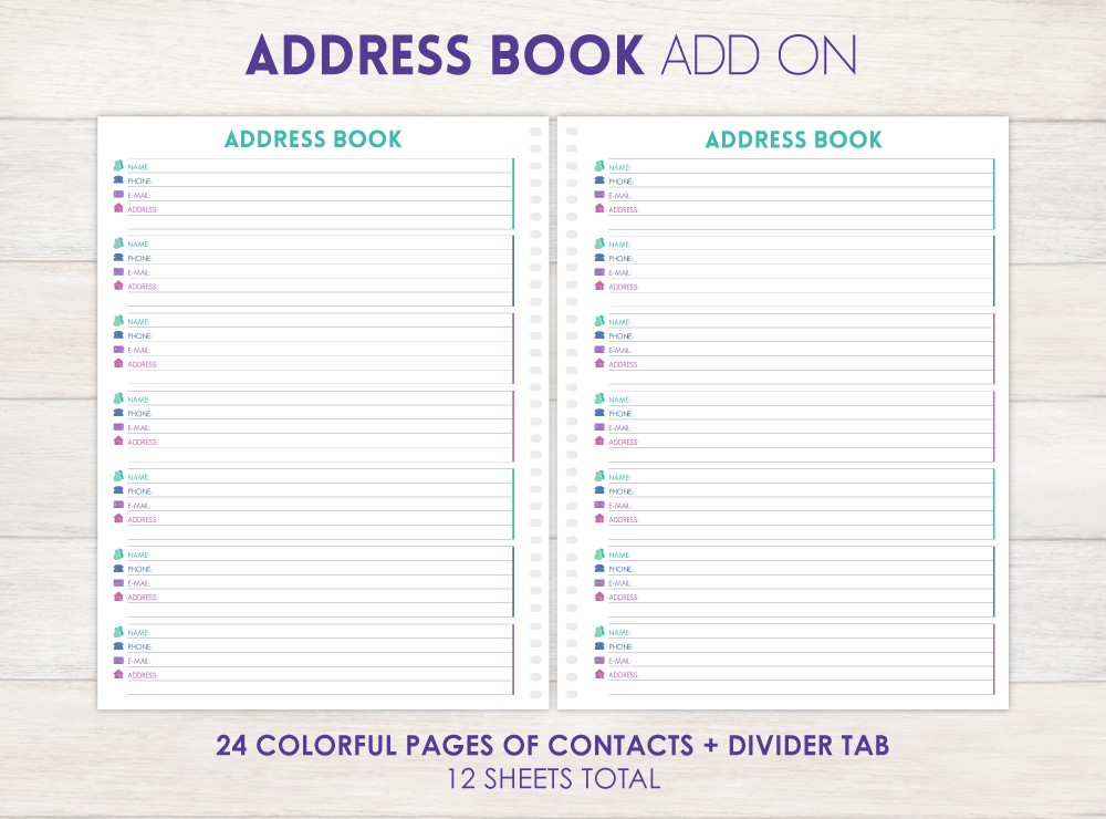 Address Book Planner Add-On