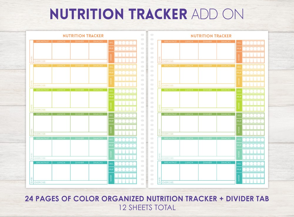 Nutrition Tracker Planner Add-On
