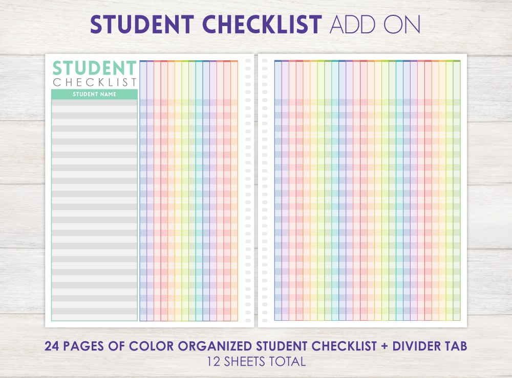 Student Checklist Add-On