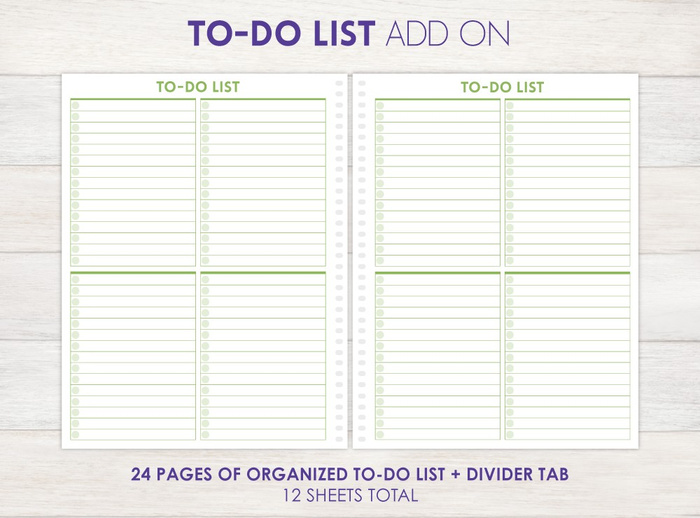 Todo List Planner Add-On