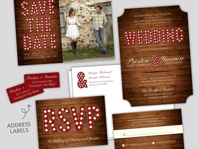 Wedding stationery set in Issaquah, Bellevue & Greater Seattle, WA