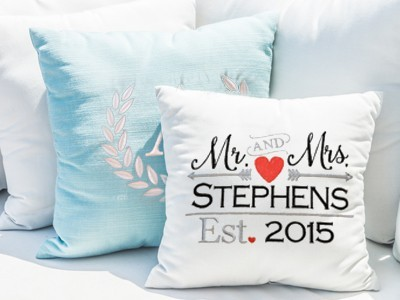 Wedding custom pillows in Issaquah, Bellevue & Greater Seattle, WA
