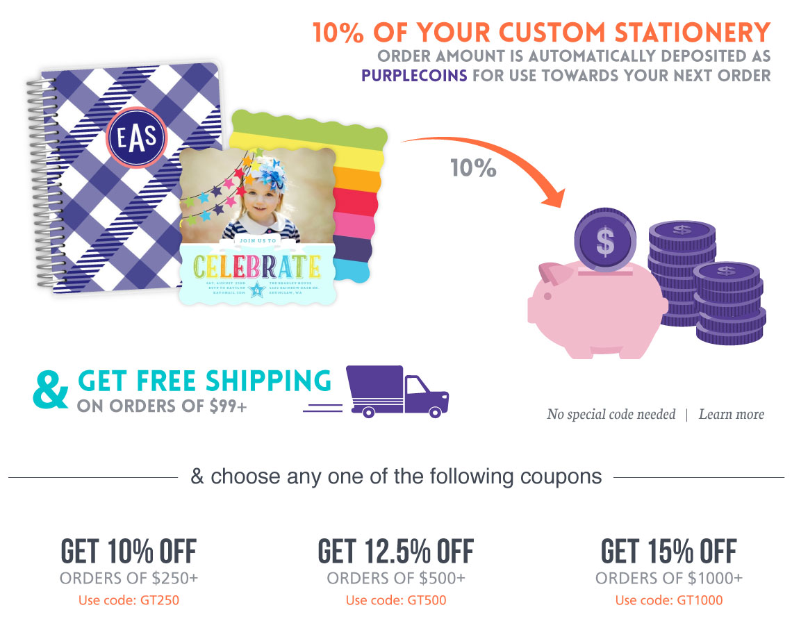 Purple trail coupons