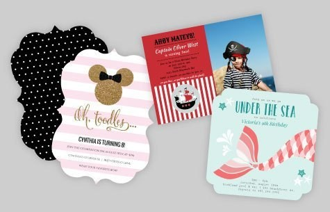 Theme Based Birthday Invitations