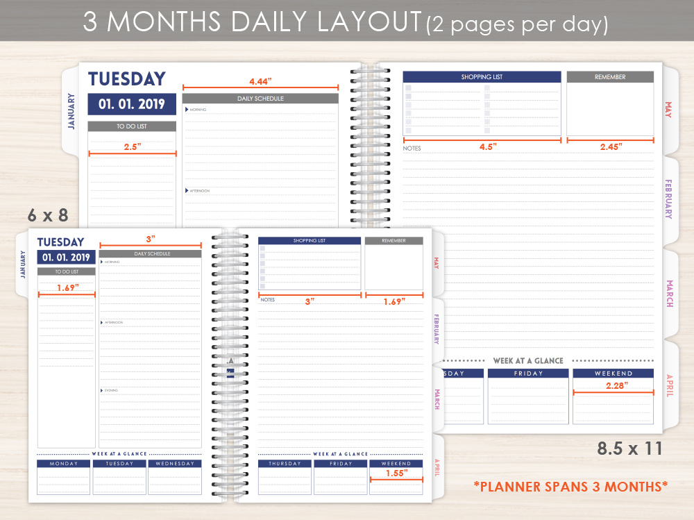 Be A Pineapple Custom Daily Planner Daily Planners - Custom daily planner