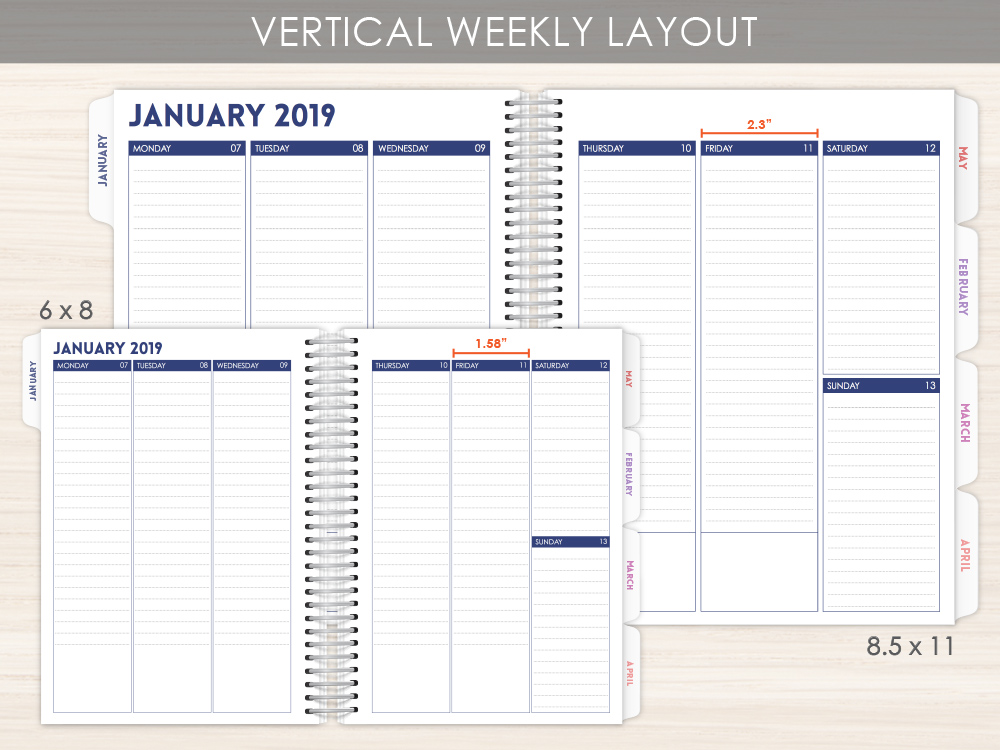 Custom Weekly Planner Layout Option