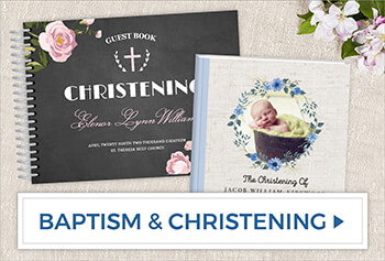 Create Baptism & Christening Guest Books