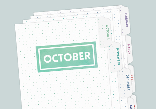 Choose your start month and planner length