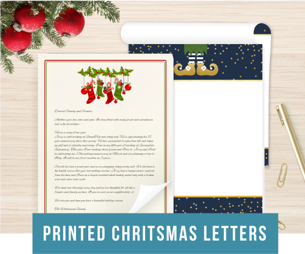 Printed Christmas Letters