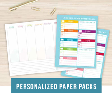 Personlized Paper Packs