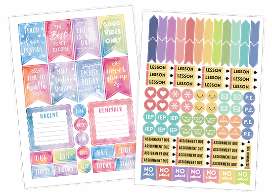 Academic Planner Stickers