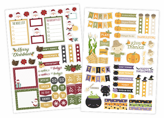 Seasonal Planner Stickers