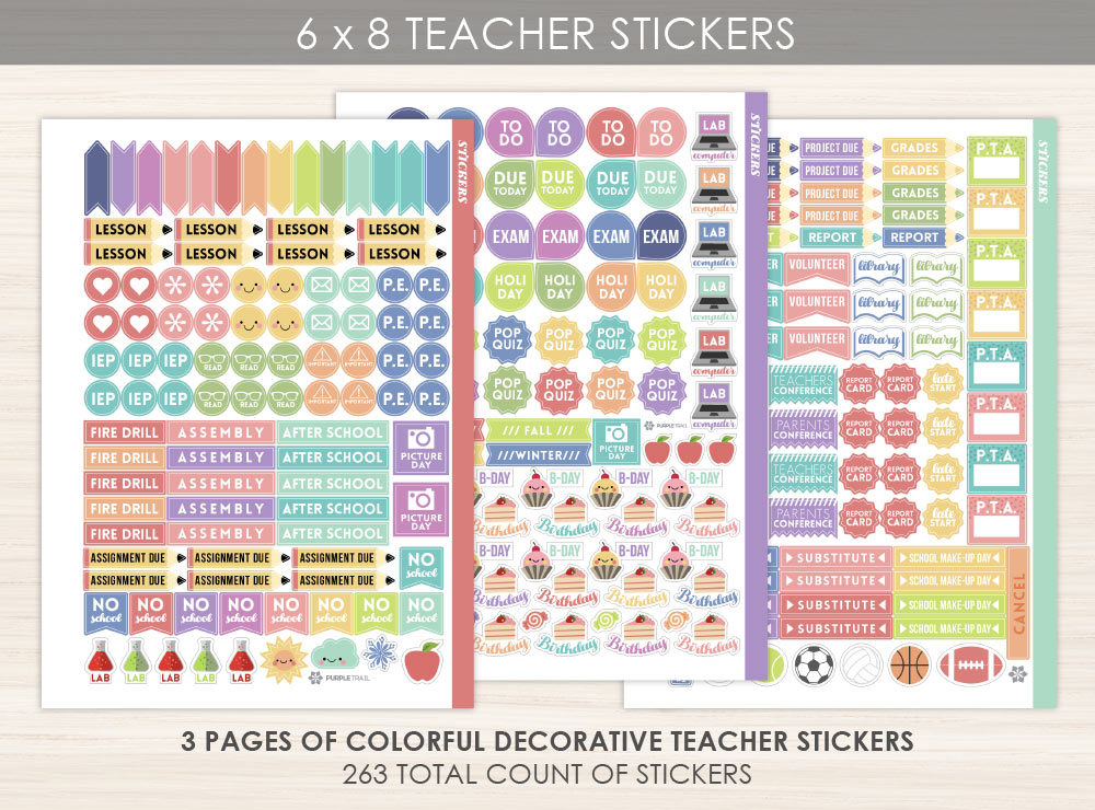 6x8 Teacher Sticker Pack