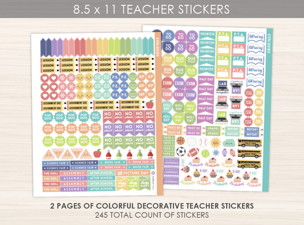 8.5x 11 Teacher Sticker Pack