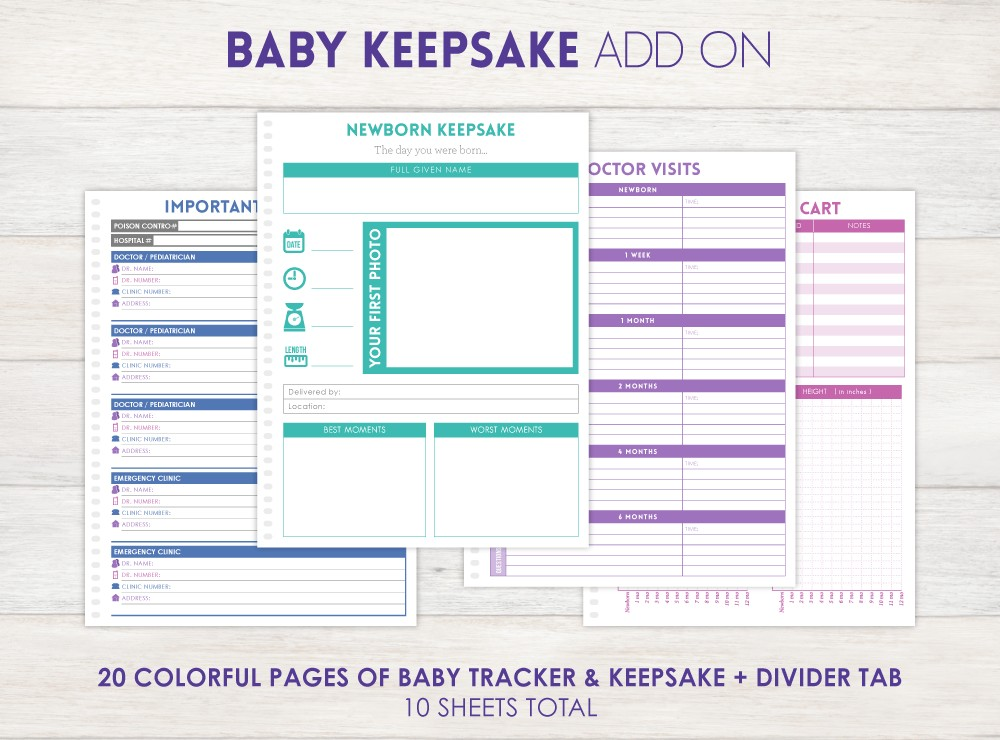 Baby Tracker Planner Add-On