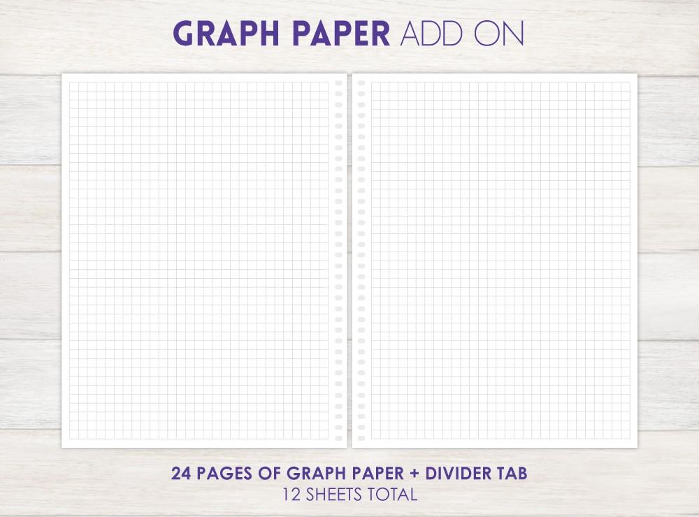 Graph Paper Planner Add-On