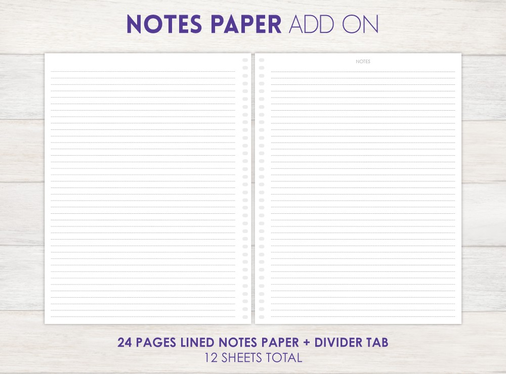 Notes Paper Planner Add-On