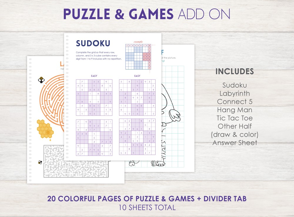 Puzzles & Games Planner Add-On