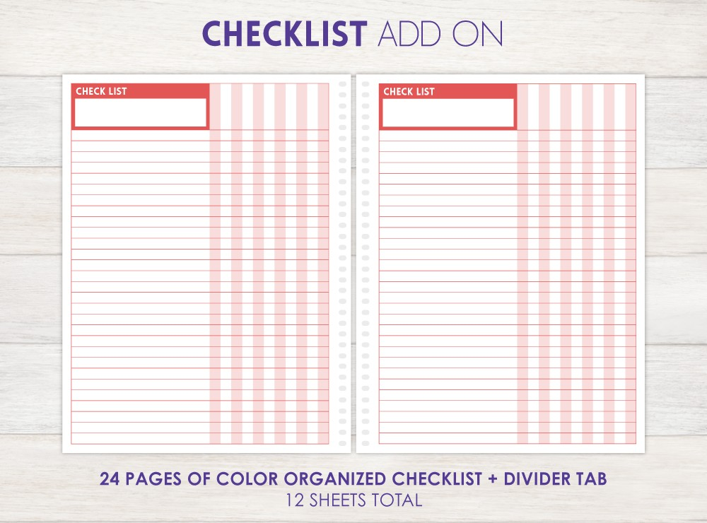 Checklist Planner Add-On
