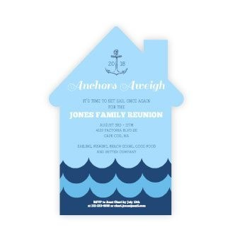 Nautical Anchors Aweigh Family Reunion Invitation